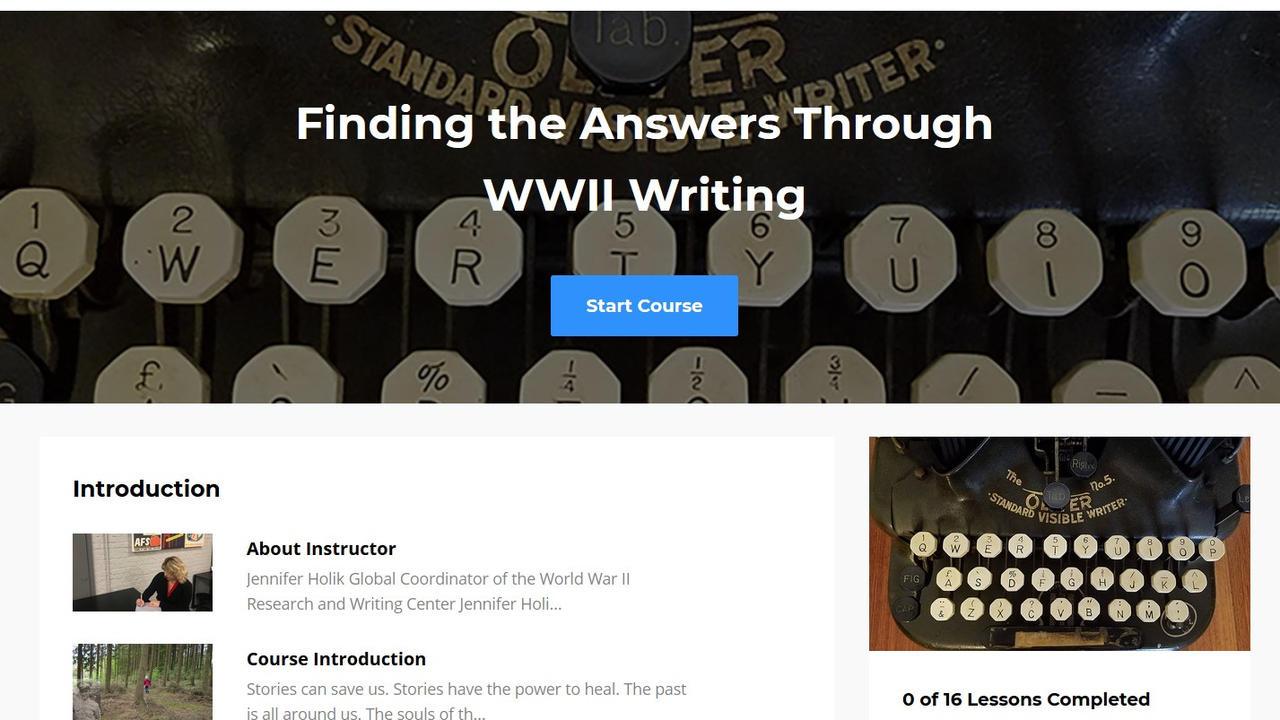 Iano7shpqbu25qiqvddz ftha through wwii writing course image