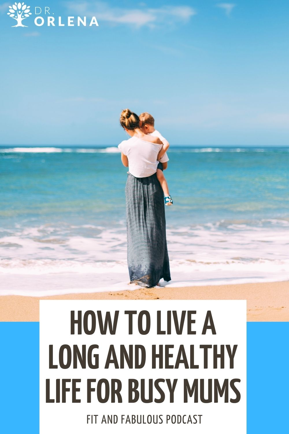 A mom walking on the beach while carrying her child #momhealth #healthylife #healthyliving #wellness
