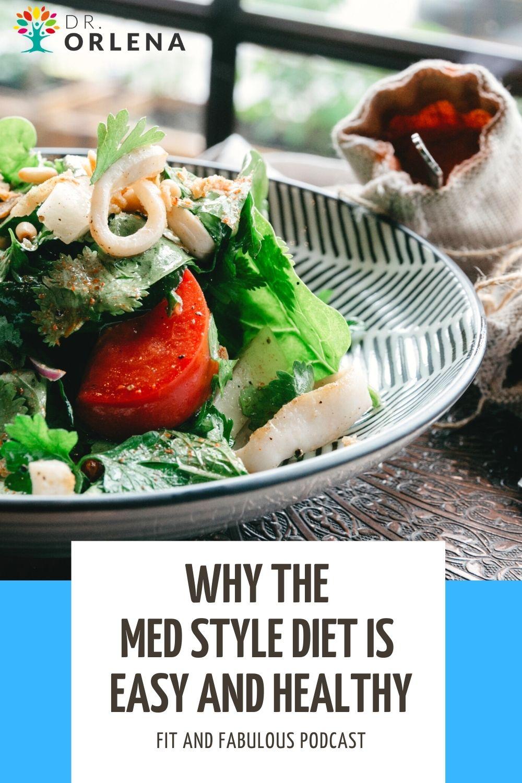 A healthy Mediterranean Style salad.