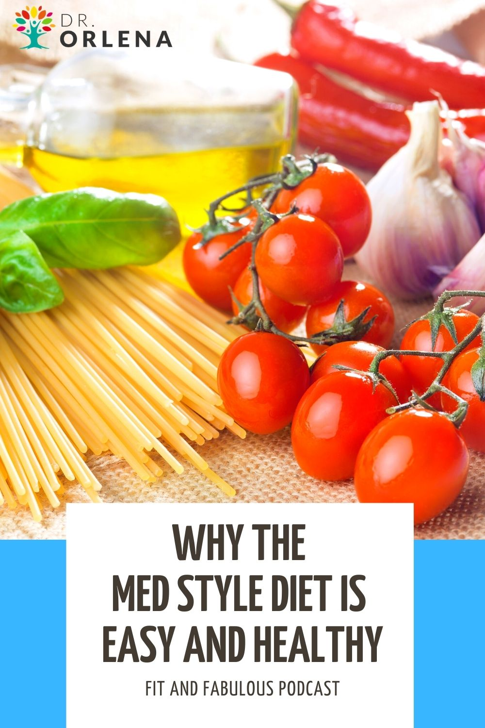 Various foods that are included in the Mediterranean Style Diet.
