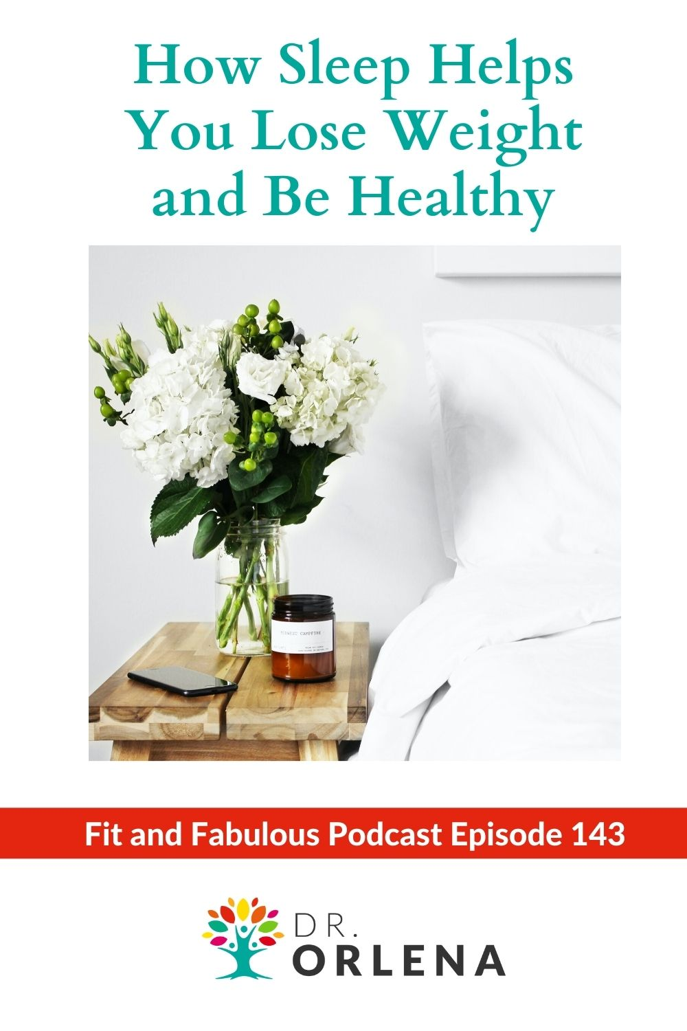 Photo of a bedside with flowers and scented candles #sleep #wellness #health