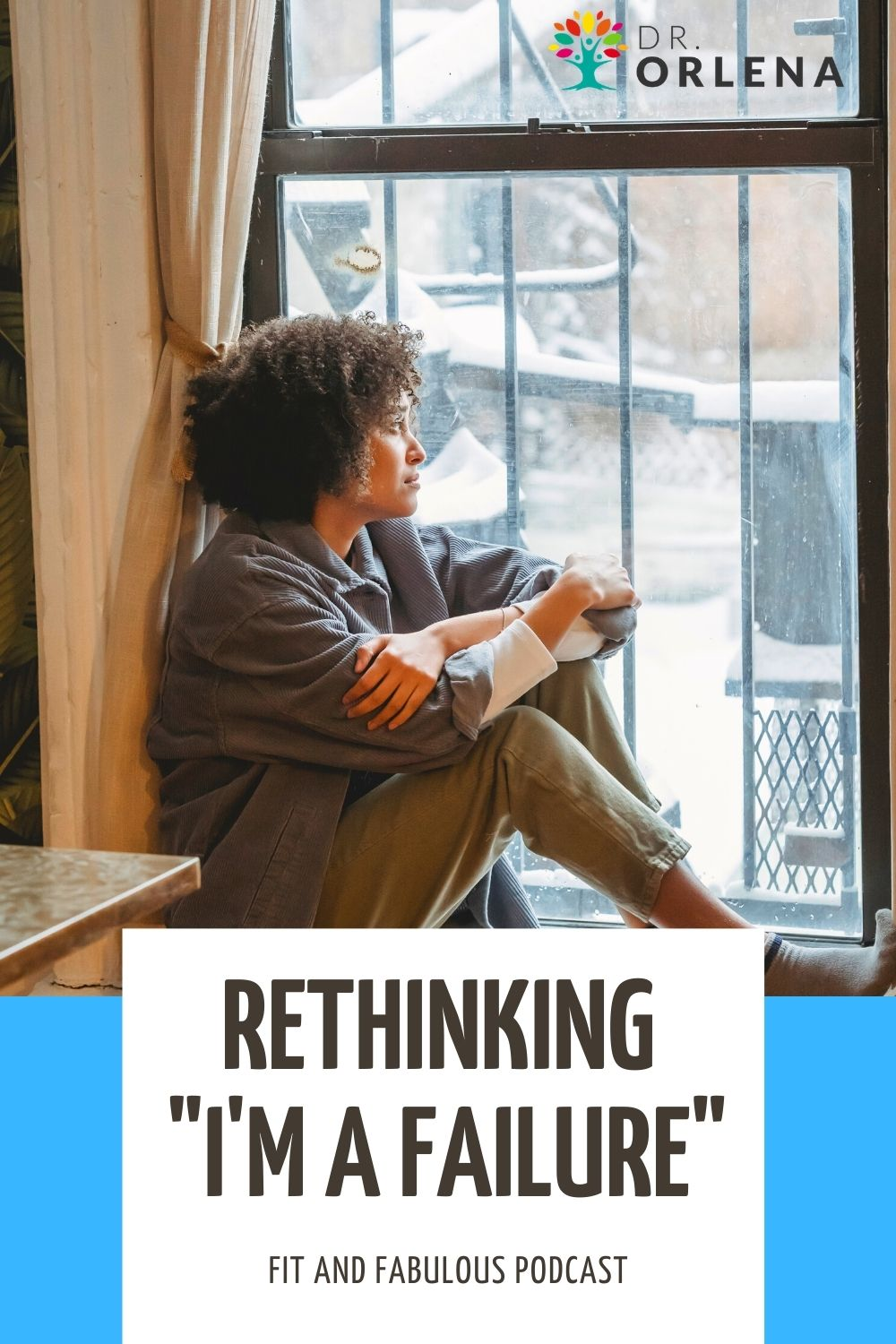 A black woman looking out the window #rethinkinglife #reset #mindset #positive
