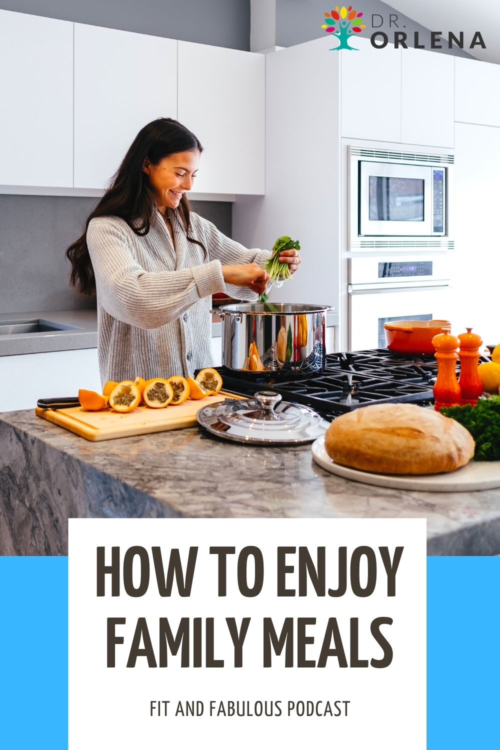 A woman making a healthy meal for her family #family #healthy #mealtime #happymealtime #healthfamily