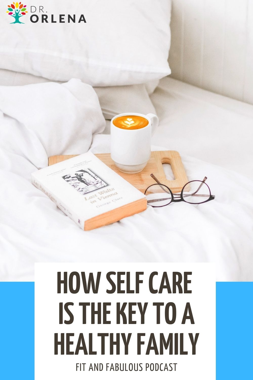 A photo of a mug of coffee, book and glasses on a bed #selfcare #selflove #momhealth #wellness #healthyliving #healthylife #healthymom #healthyfamily