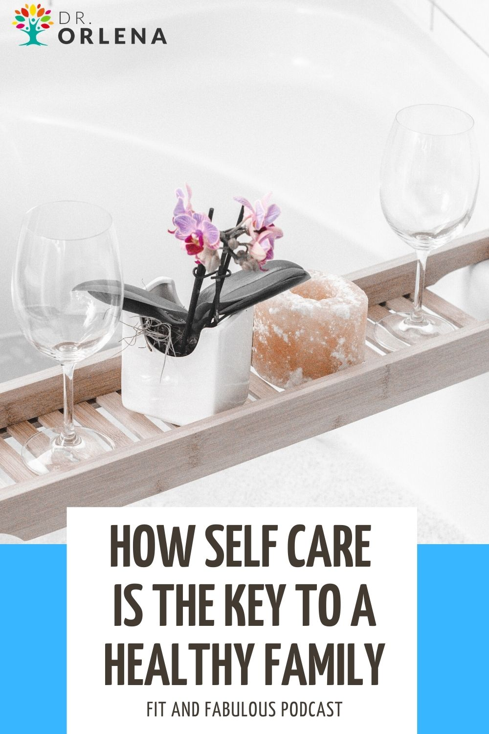 A photo of a pot of flower, wine glasses and bath salts placed ontop of a bathtub #selfcare #selflove #momhealth #wellness #healthyliving #healthylife #healthymom #healthyfamily
