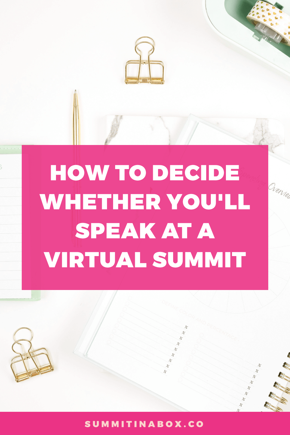 Consider this before you decide to speak at a virtual summit: the host, availability, fit, likelihood that you'll benefit, and your desire to participate.