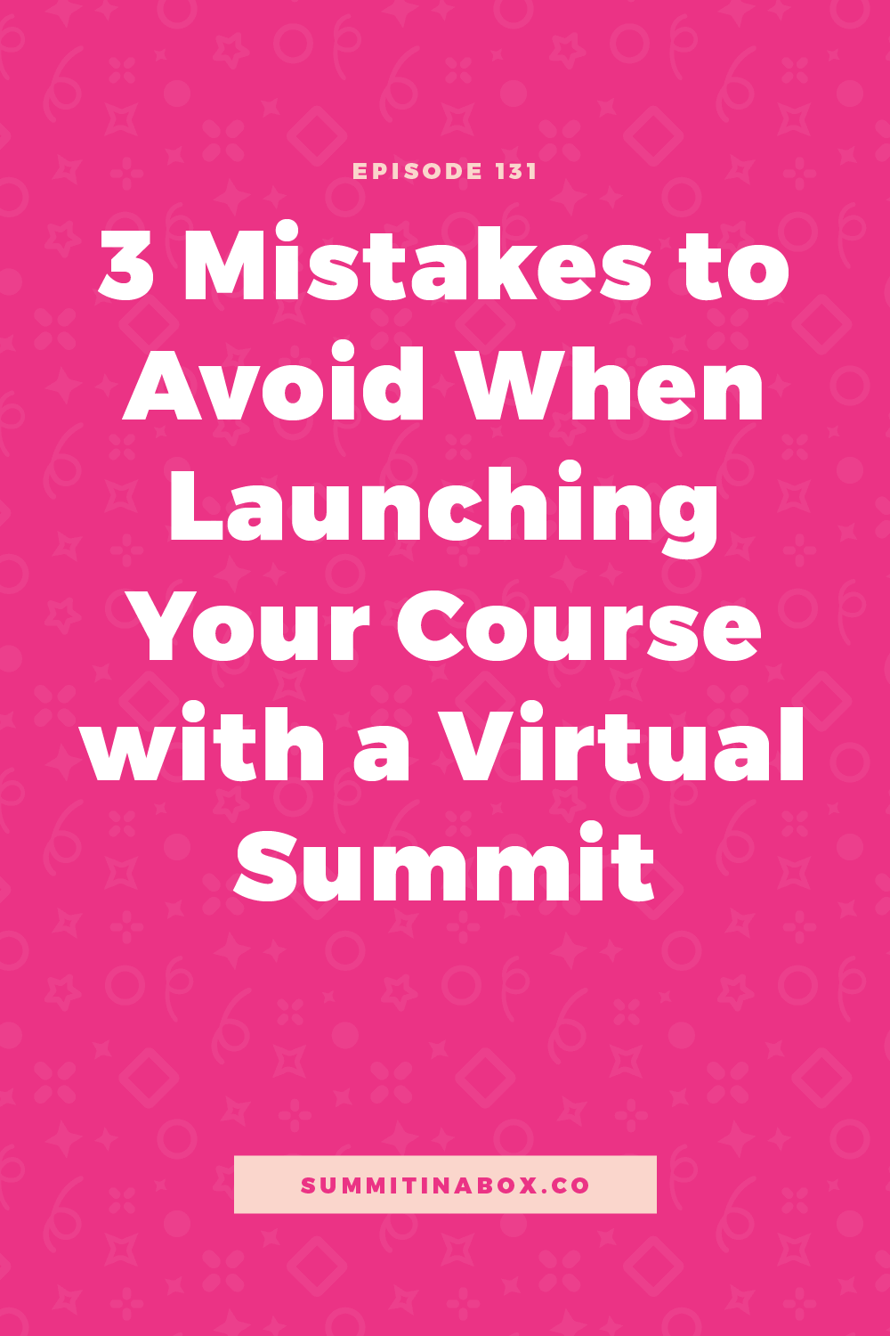 Let's cover the 3 biggest mistakes I see when using a virtual summit to launch your course and how to avoid them to have a successful, feel-good launch.