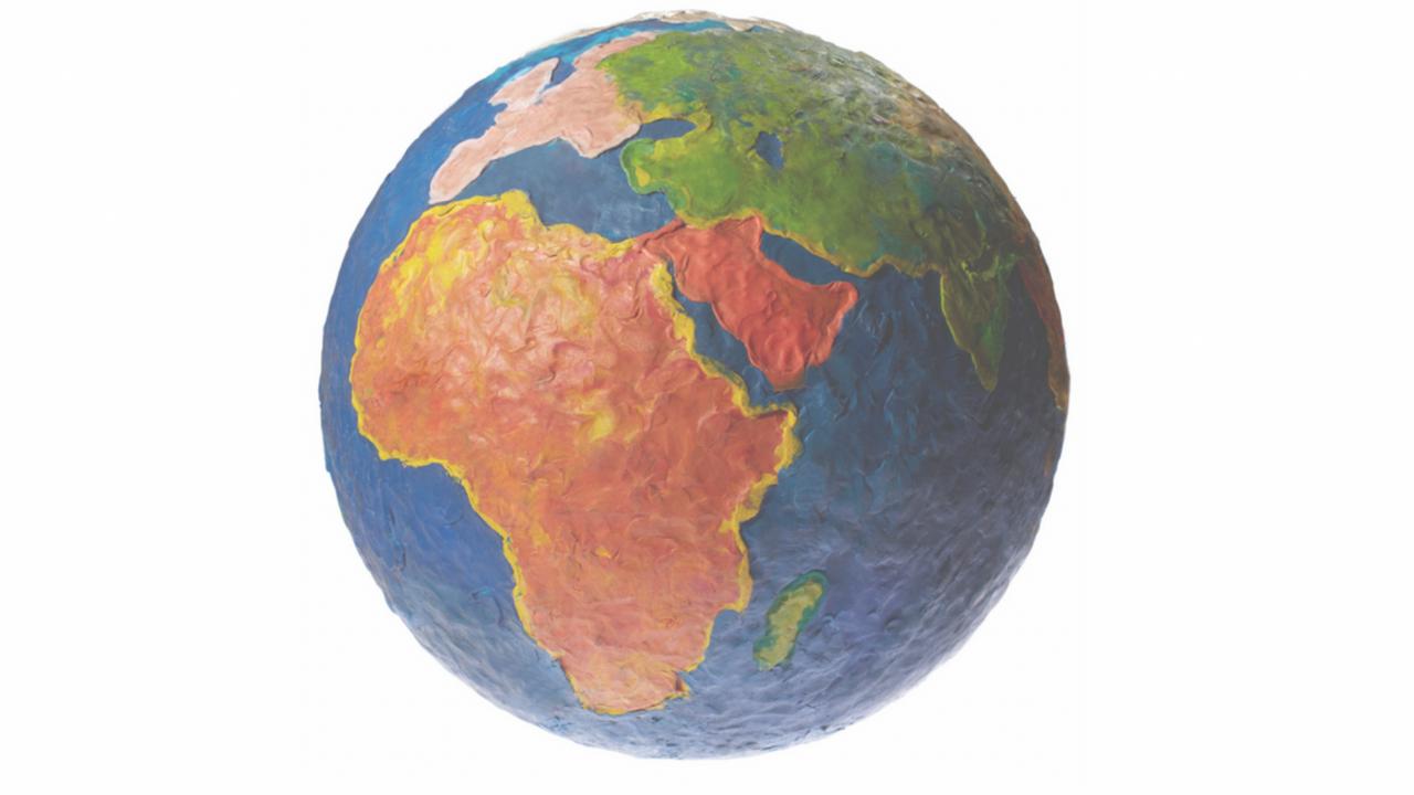 Relief-style globe