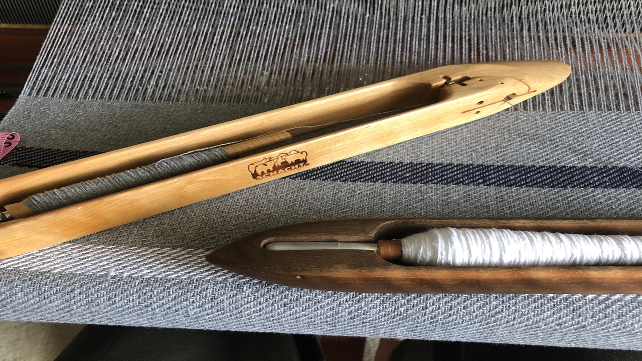 A close up of weaving tools