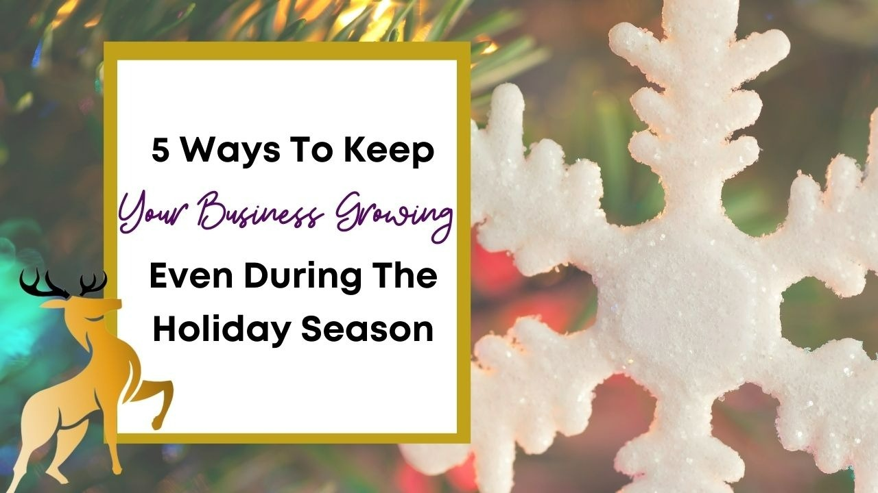Image of the blog title, 5 Ways to Keep Your Business Growing Even During the Holiday Season