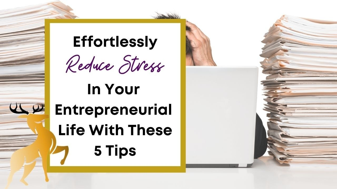 Image of the blog title, Reduce Stress in Your Entrepreneurial Life with These 5 Tips