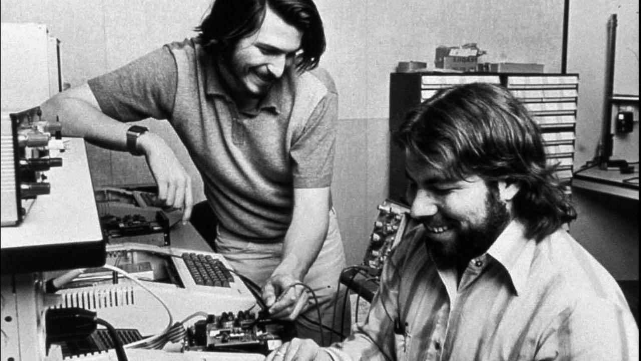 Steve Job and Steve Wozniak, Apple's co-founders