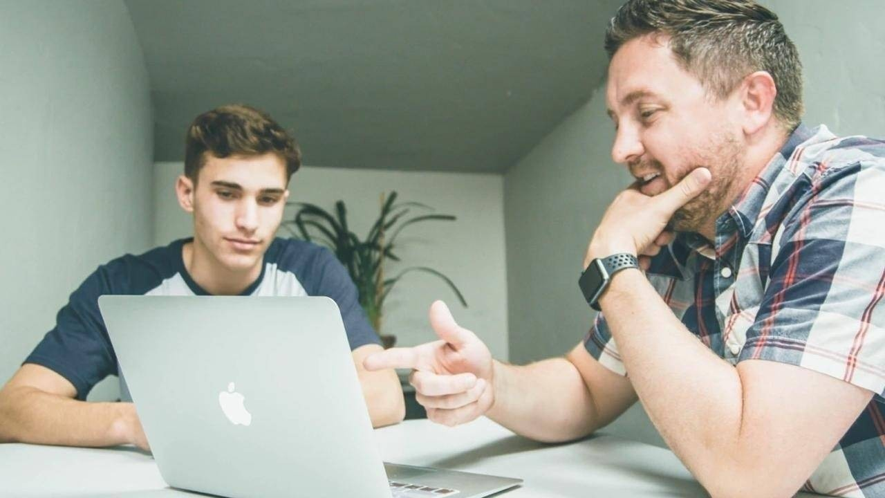 Manager developing talent of startup employee