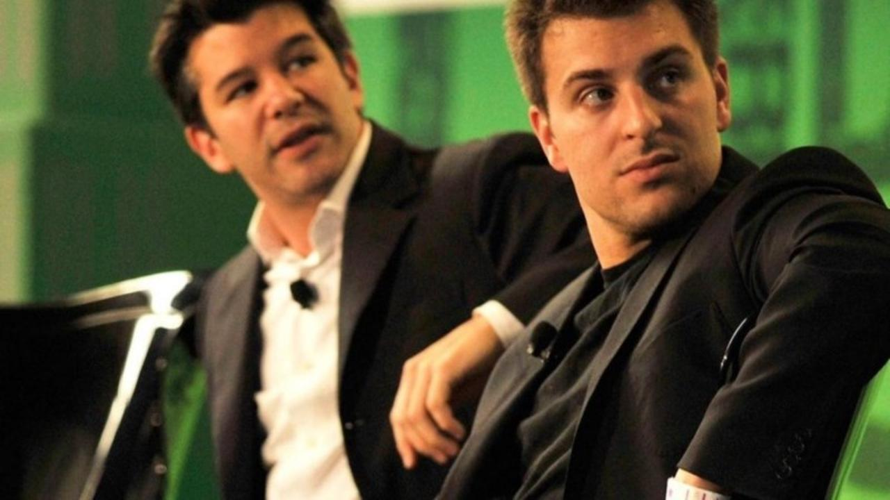 Airbnb and Uber founders at TechCrunch Disrupt