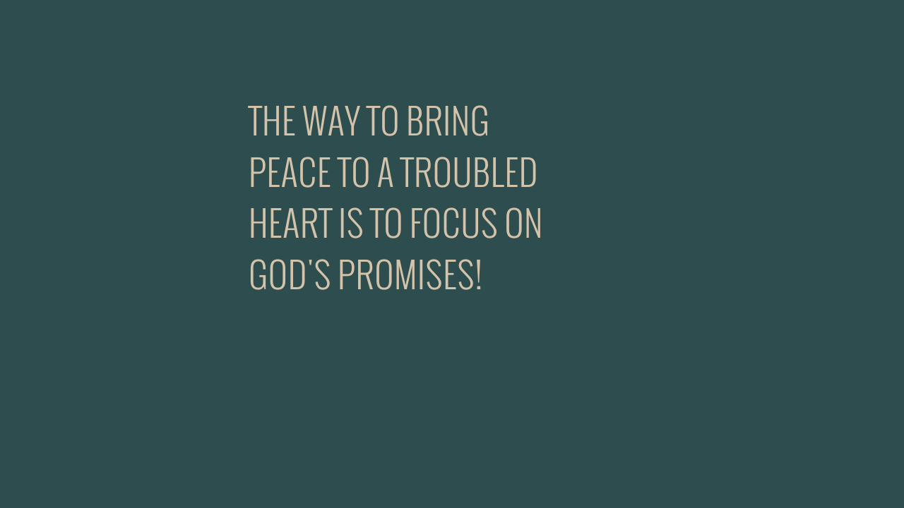 THE WAY TO BRING PEACE