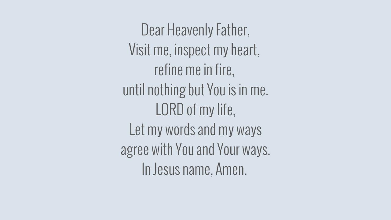 Dear Heavenly Father,