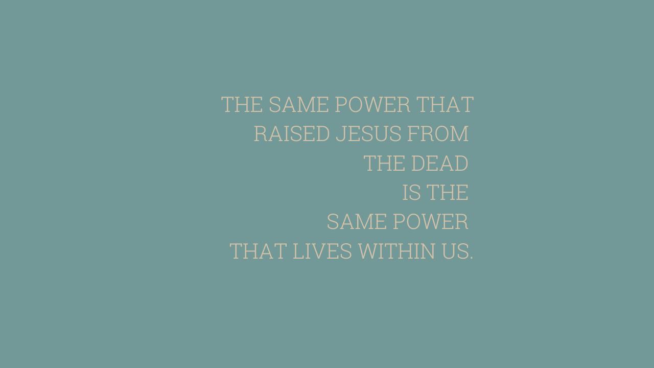 THE SAME POWER THAT RAISED JESUS