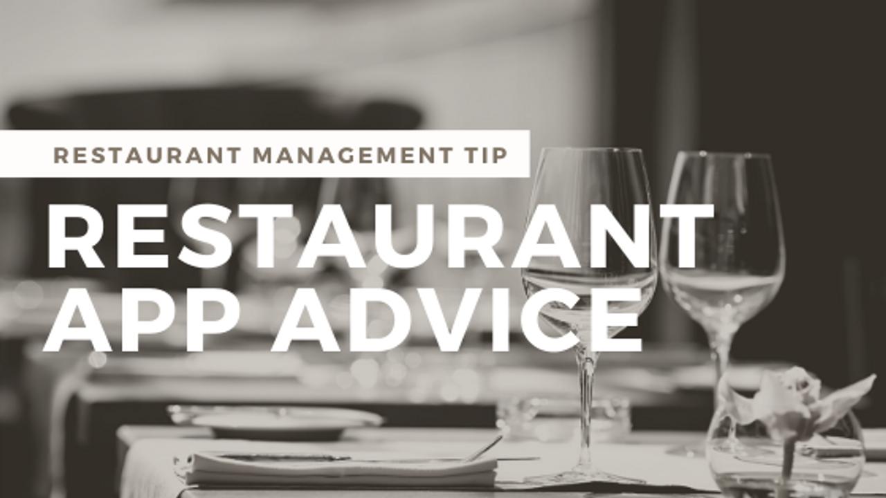 My Restaurant App Advice for Restaurant Owners