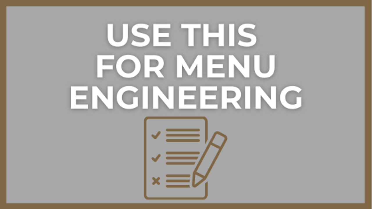 Restaurant Management System to Improve Menu Engineering