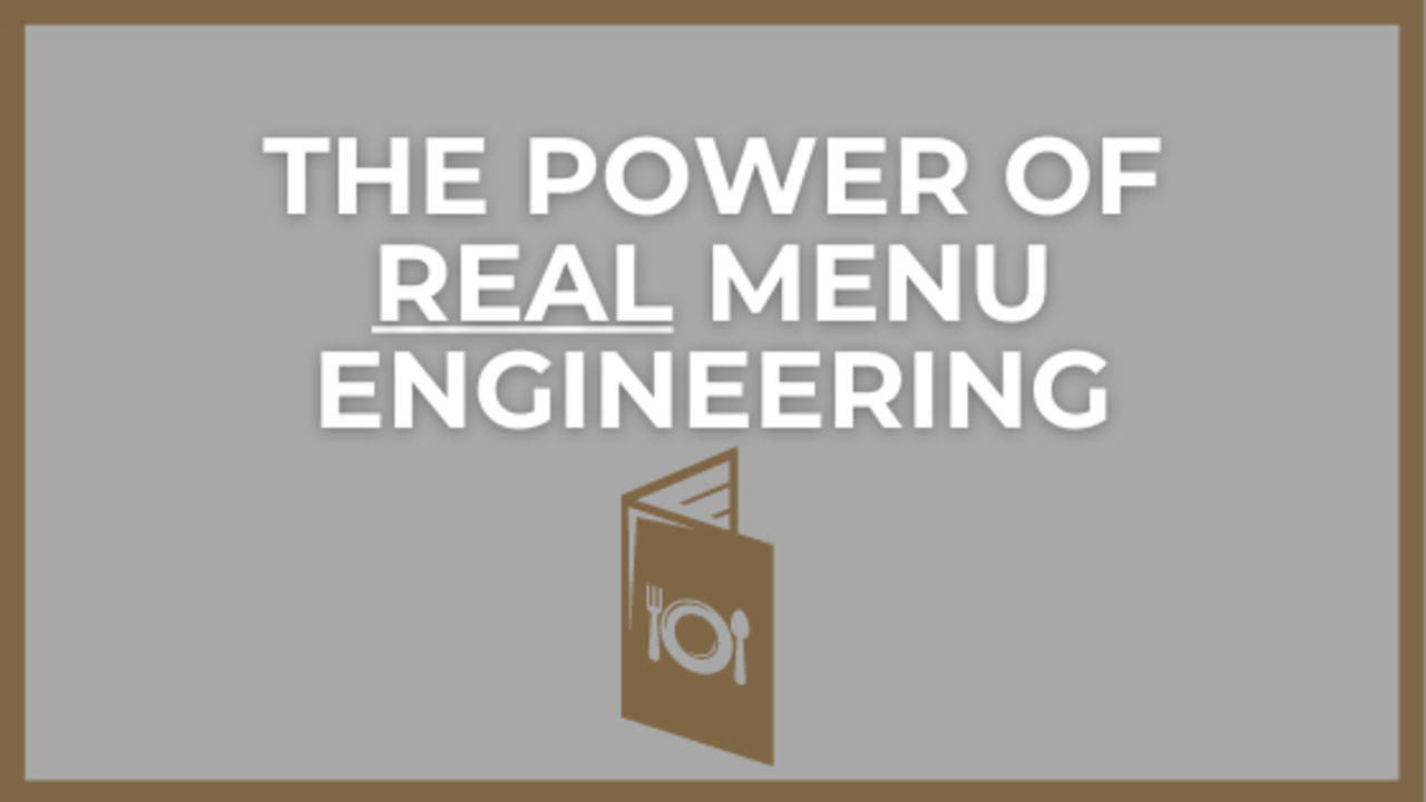 Menu Engineering to Control Restaurant Food Cost