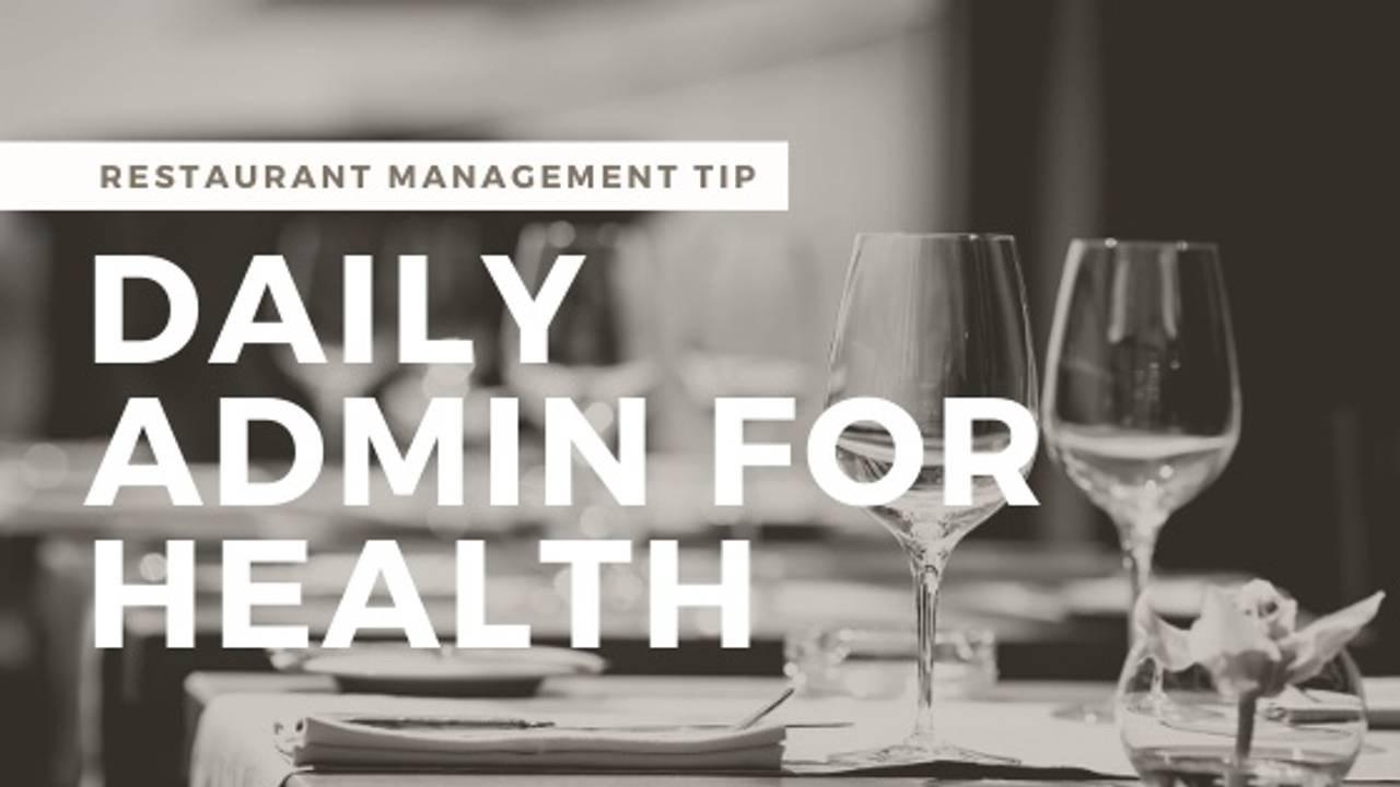 Restaurant Management System: A Basic Approach for Restaurant Health