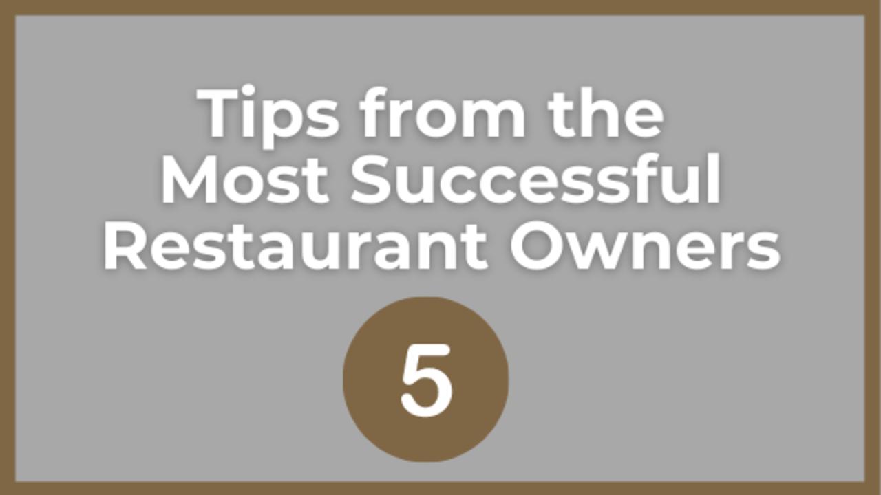 how to run a successful restaurant