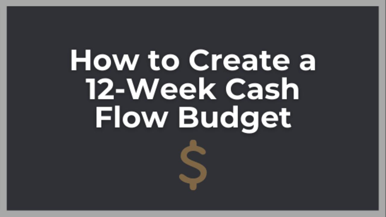 cash flow budget for restaurants