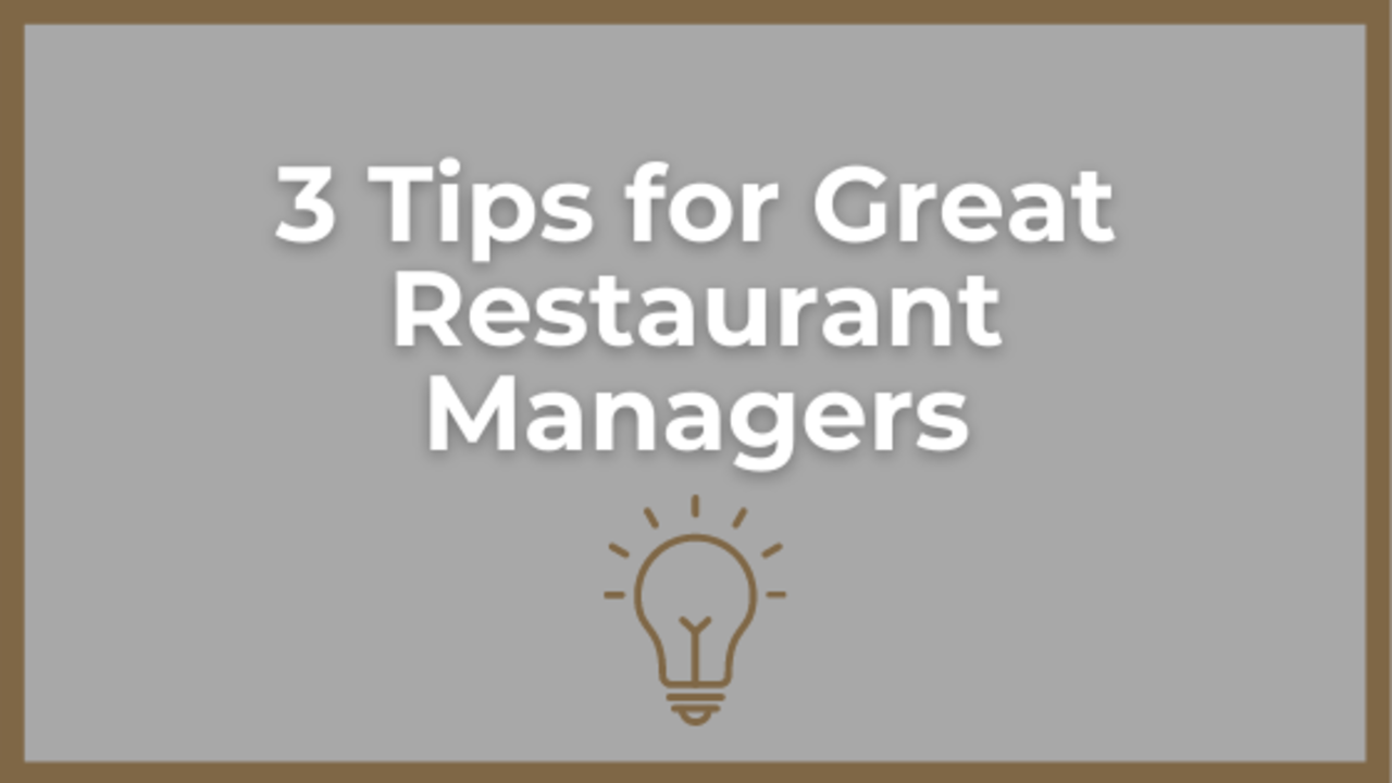 restaurant manager tips