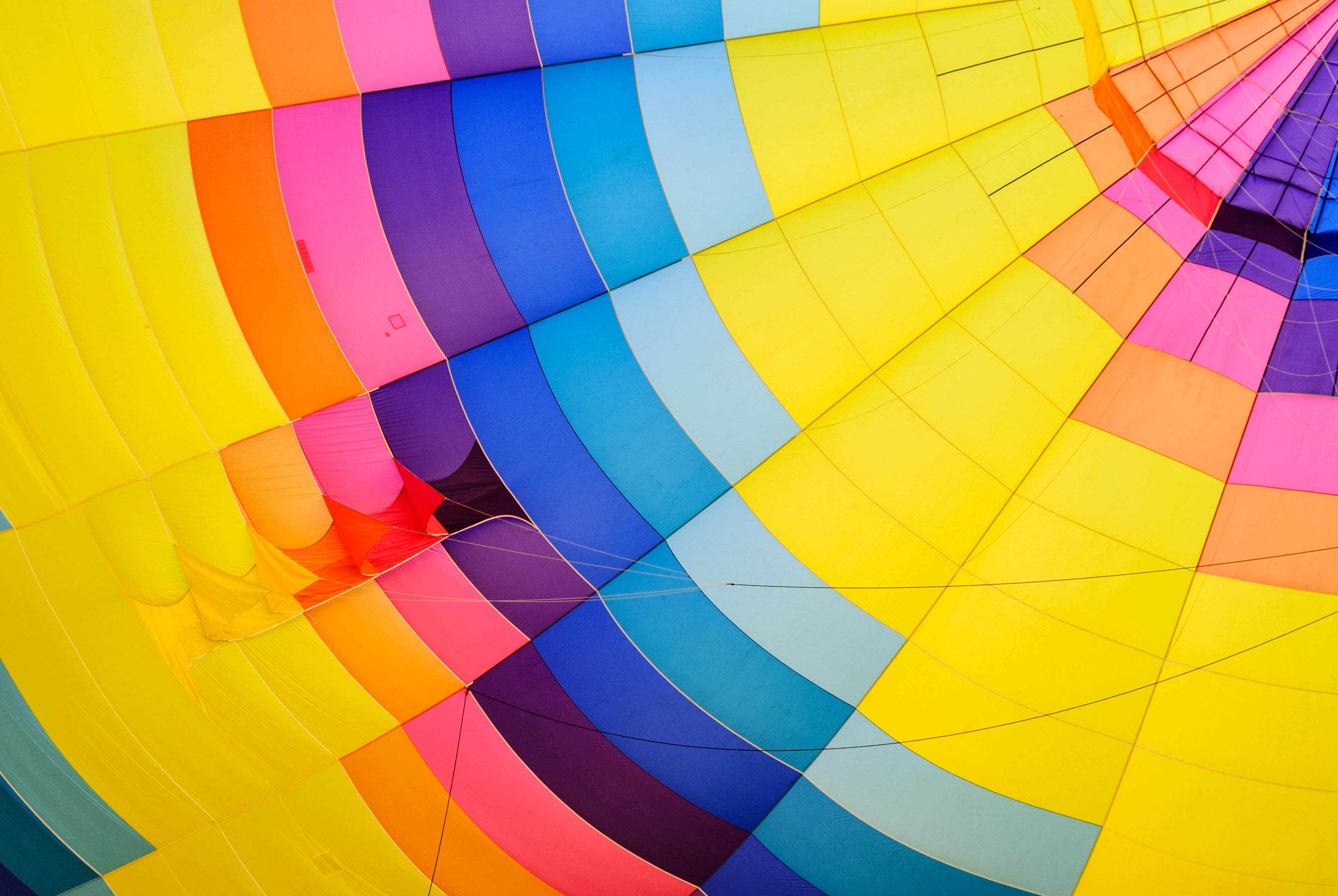 colorful parachute opened