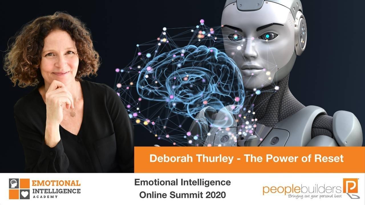Deborah Thurley speaking at the Emotional Intelligence Online Summit in 2020 for People Builders and the Emotional Intelligence Academy on the Power of Reset.