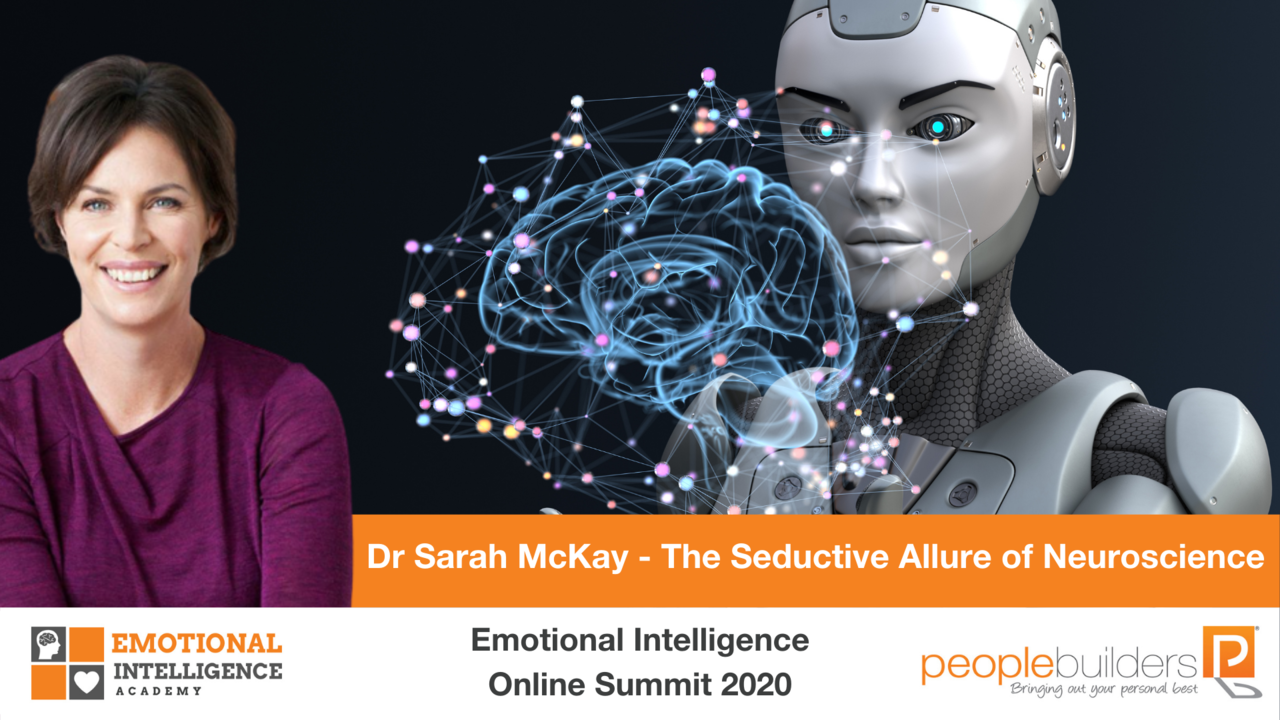 Dr. Sarah McKay speaking at the Emotional Intelligence Online Summit in 2020 for People Builders and the Emotional Intelligence Academy.
