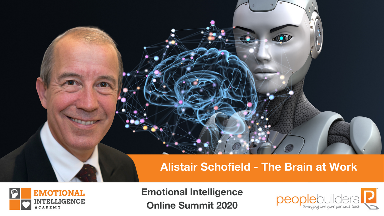 Alistair Schofield speaking at the Emotional Intelligence Online Summit in 2020 for People Builders and the Emotional Intelligence Academy on the brain at work.