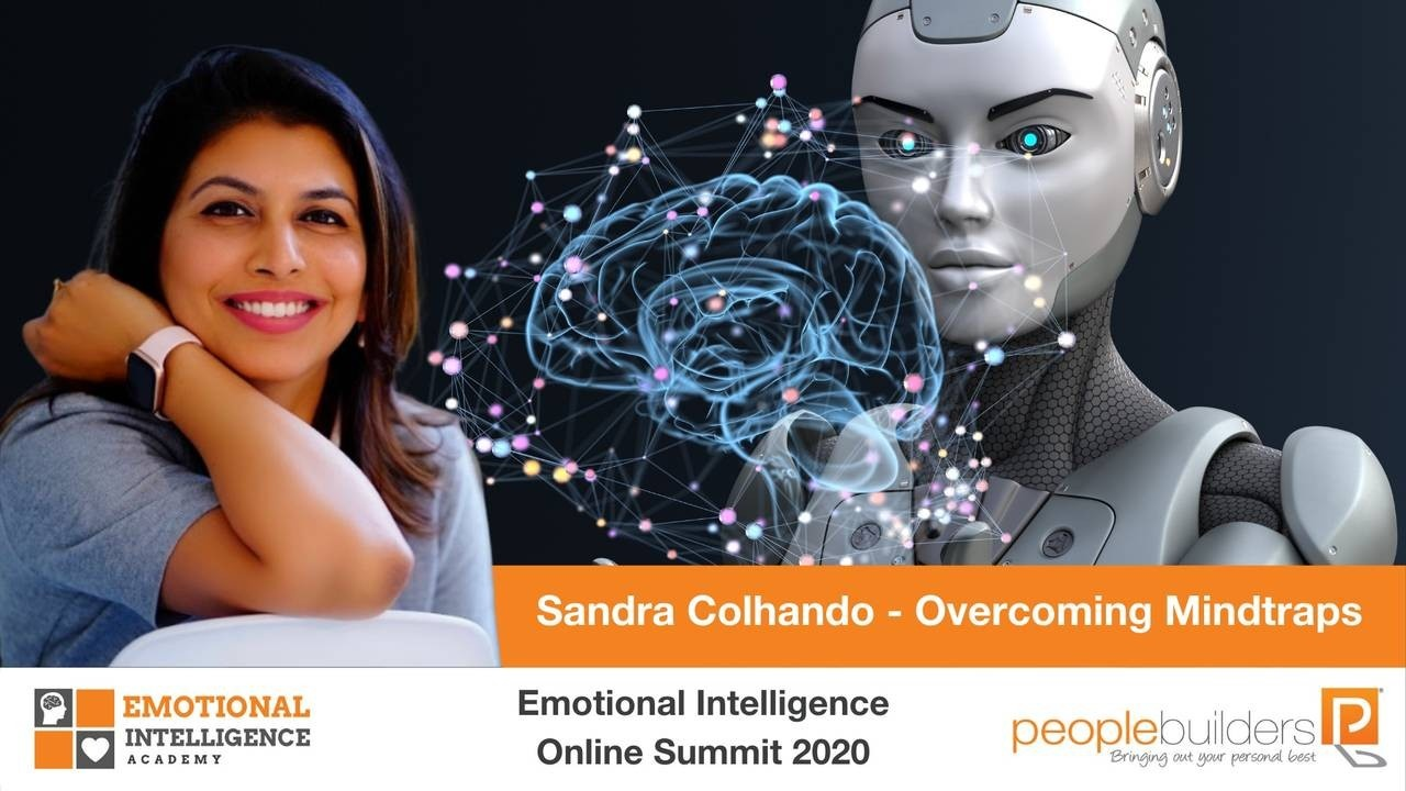 Sandra Colhando speaking at the Emotional Intelligence Online Summit in 2020 for People Builders and the Emotional Intelligence Academy on Overcoming Your Mindtraps.