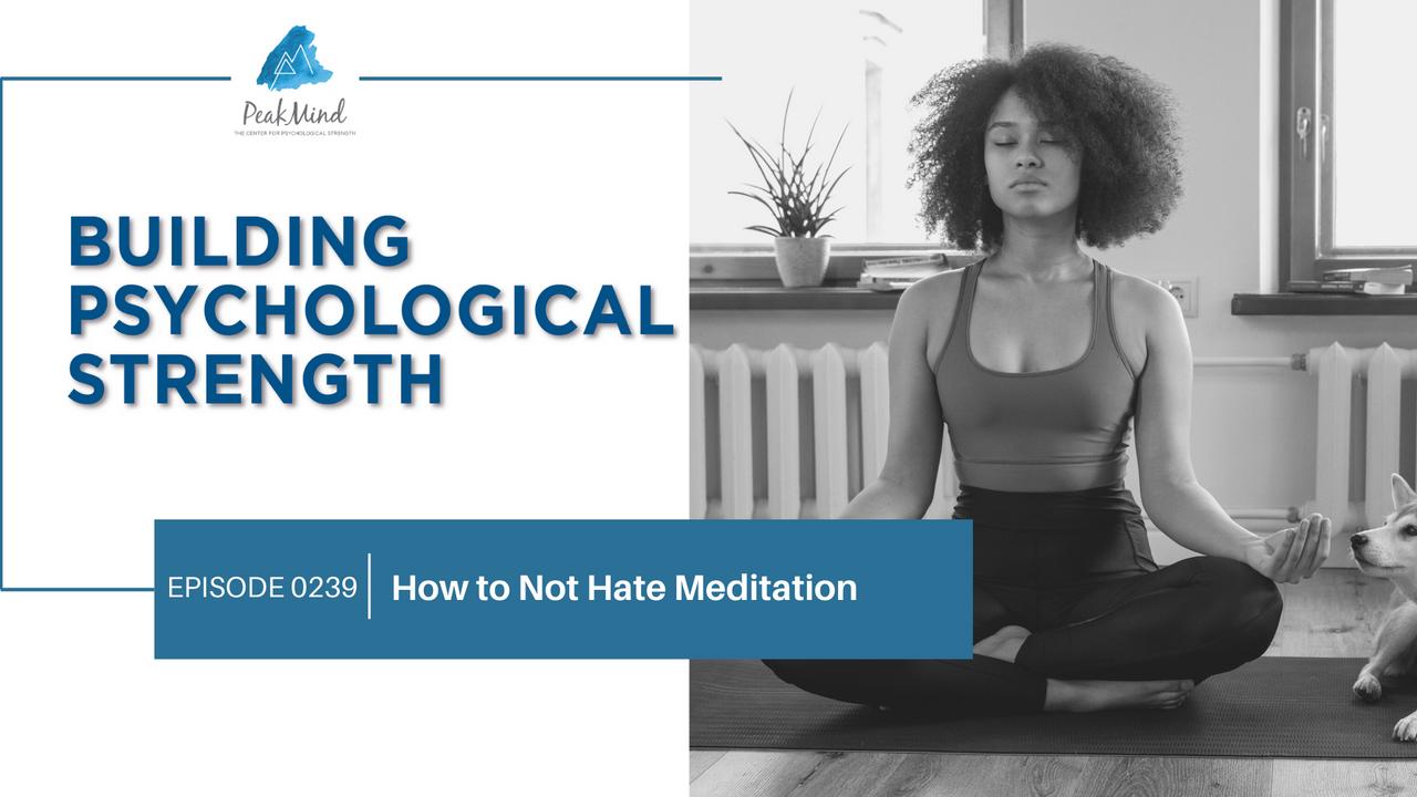 I hate meditation