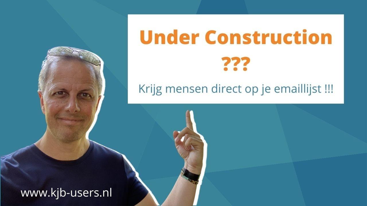 kajabi under construction page