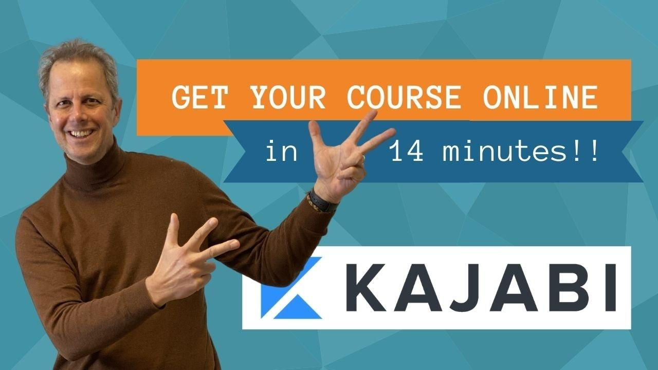 create your course fast in Kajabi