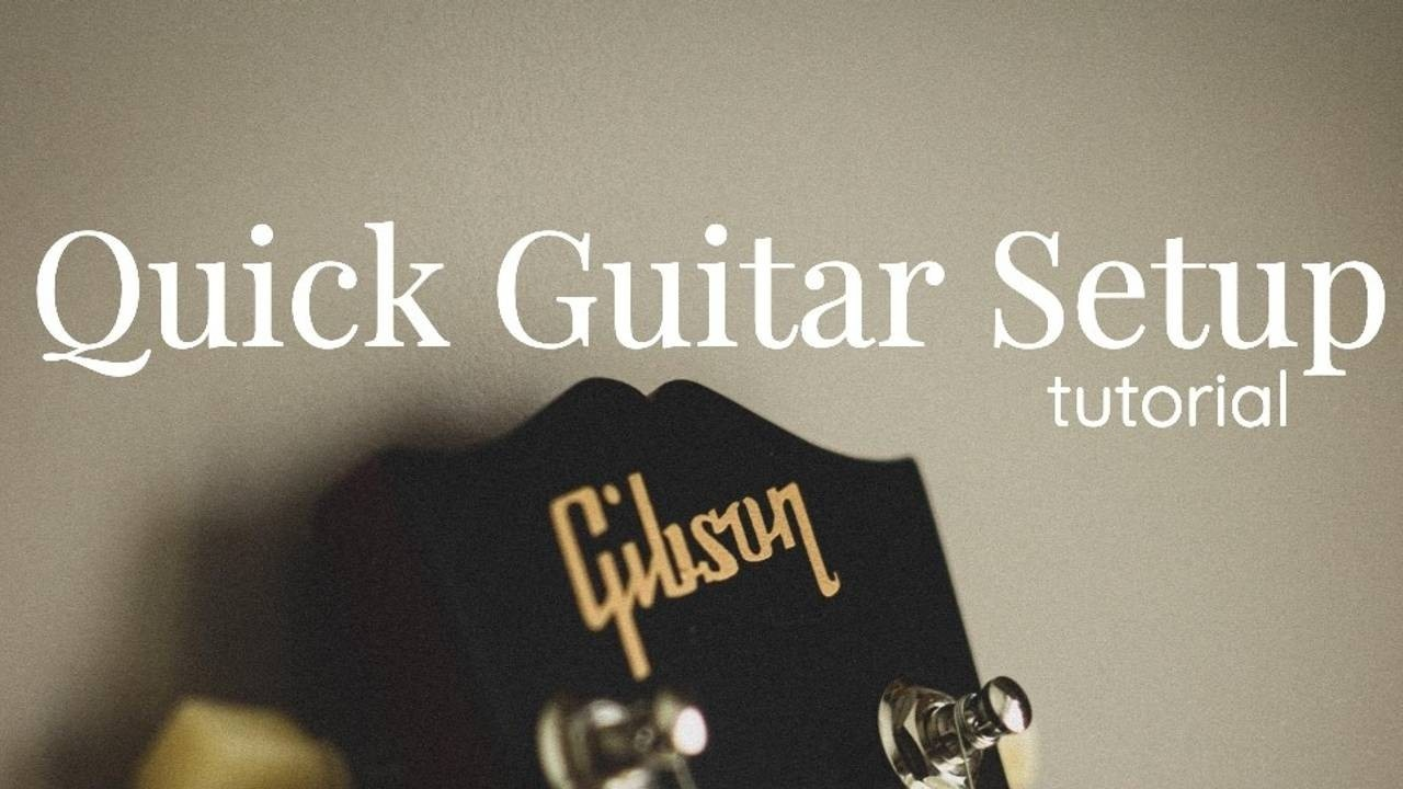 Quick Guitar Setup Tutorial Blog Post