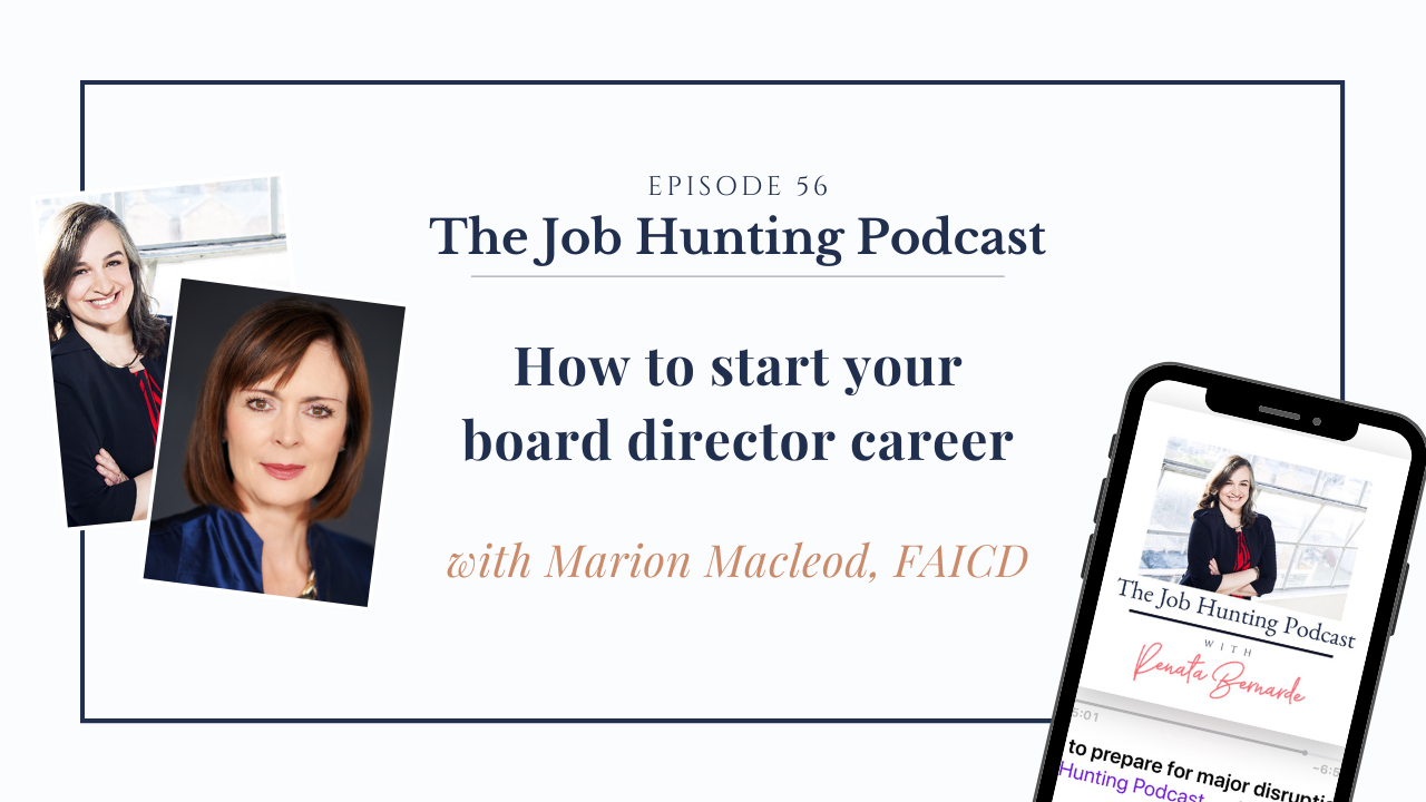The Job Hunting Podcast Episode 56 with Marion Macleod