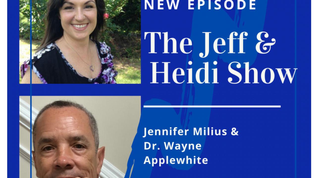 Jen and Wayne on The Jeff & Heidi Show