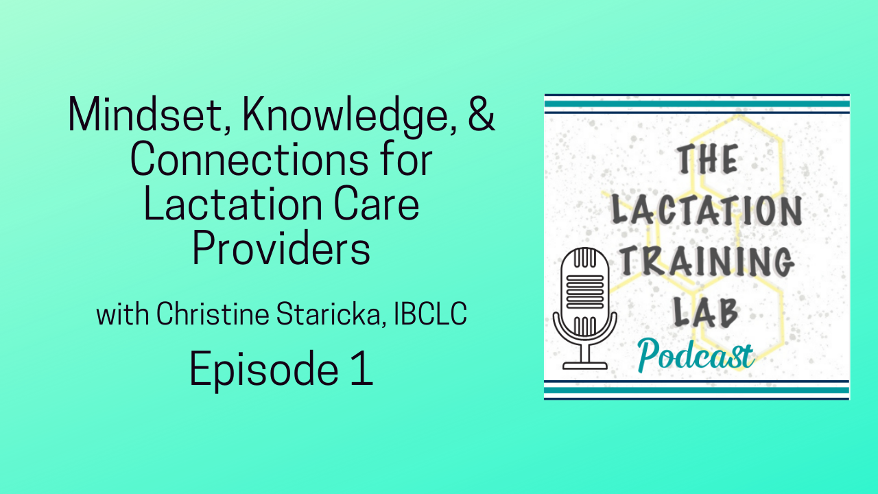 Graphic for Episode 1 of The Lactation Training Lab Podcast