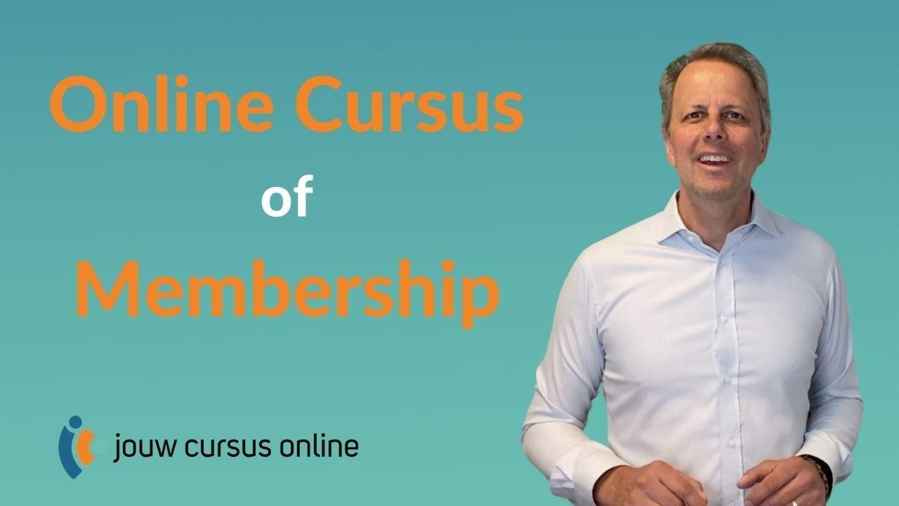 onlien cursus vs membership