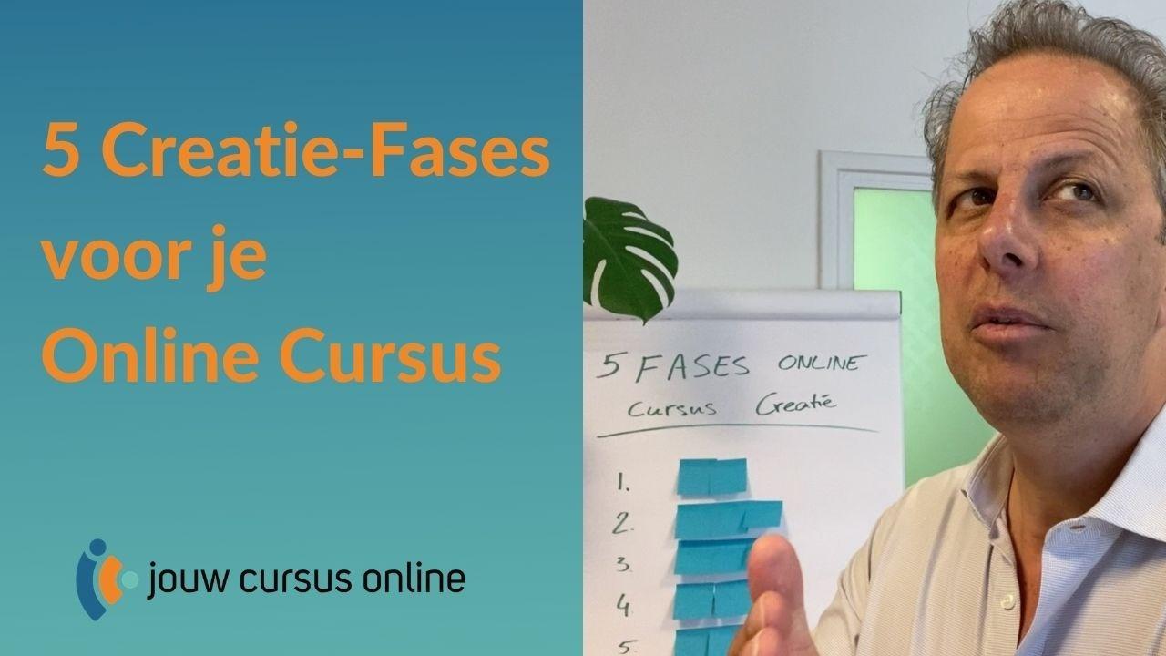 5 creatie fases voor een online cursus