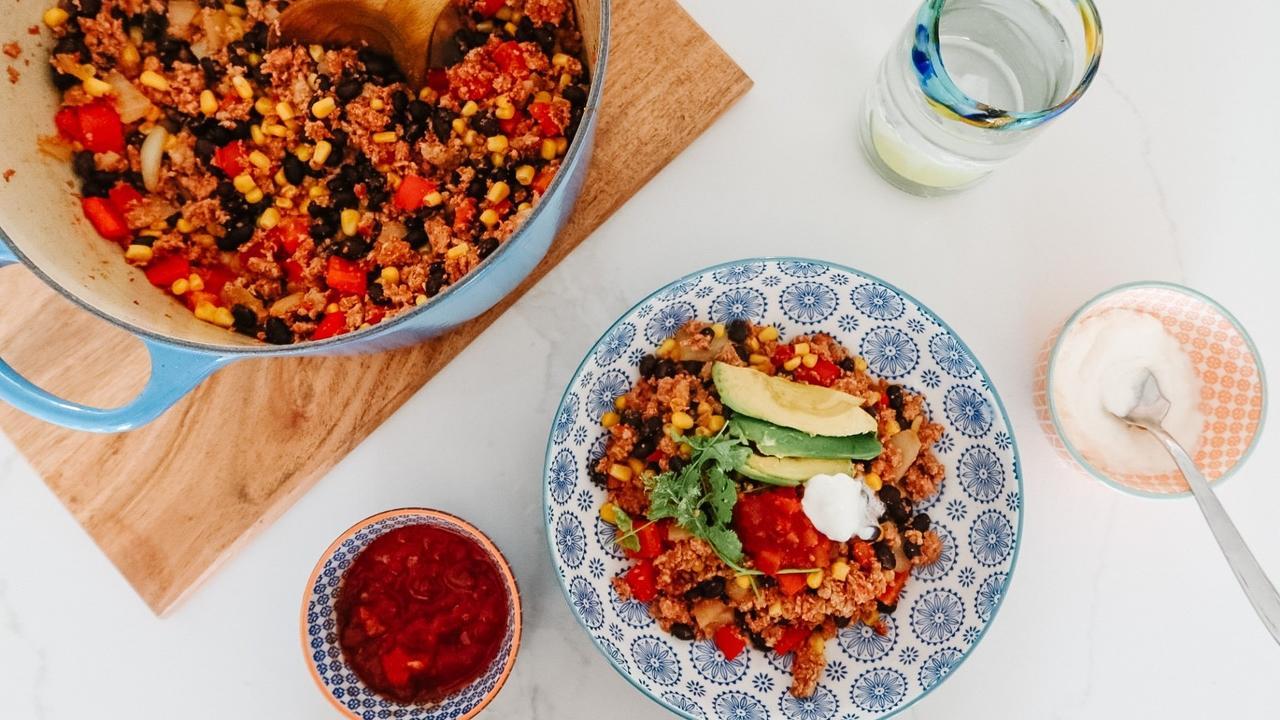 Healthy Turkey Taco Skillet