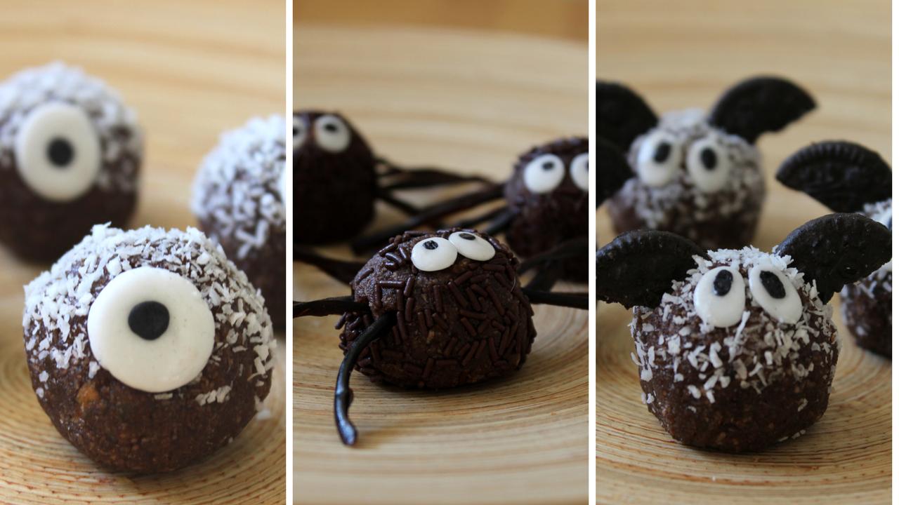 Coco-Choco Halloween Truffles!: Spiders, Mini Bats and Monster Eyeballs