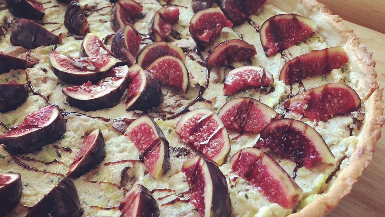 Leek, Mushroom and Fig Tart