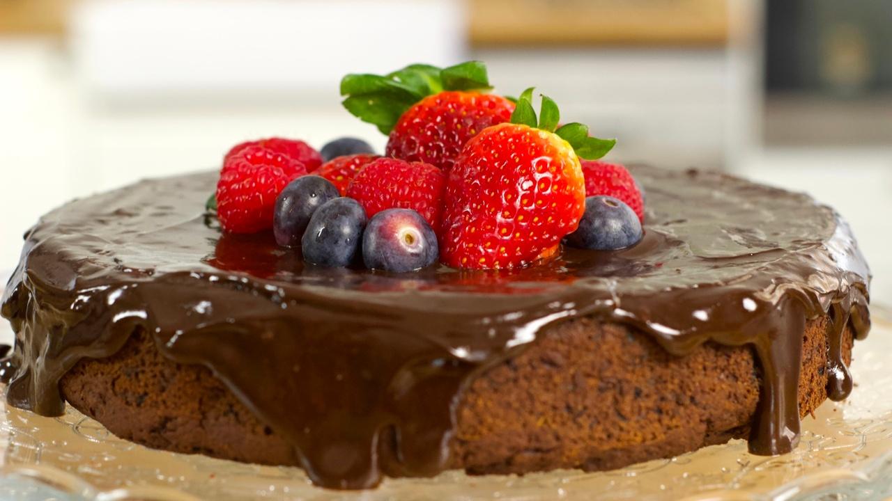 Sweet Potato Blueberry Chocolate Cake