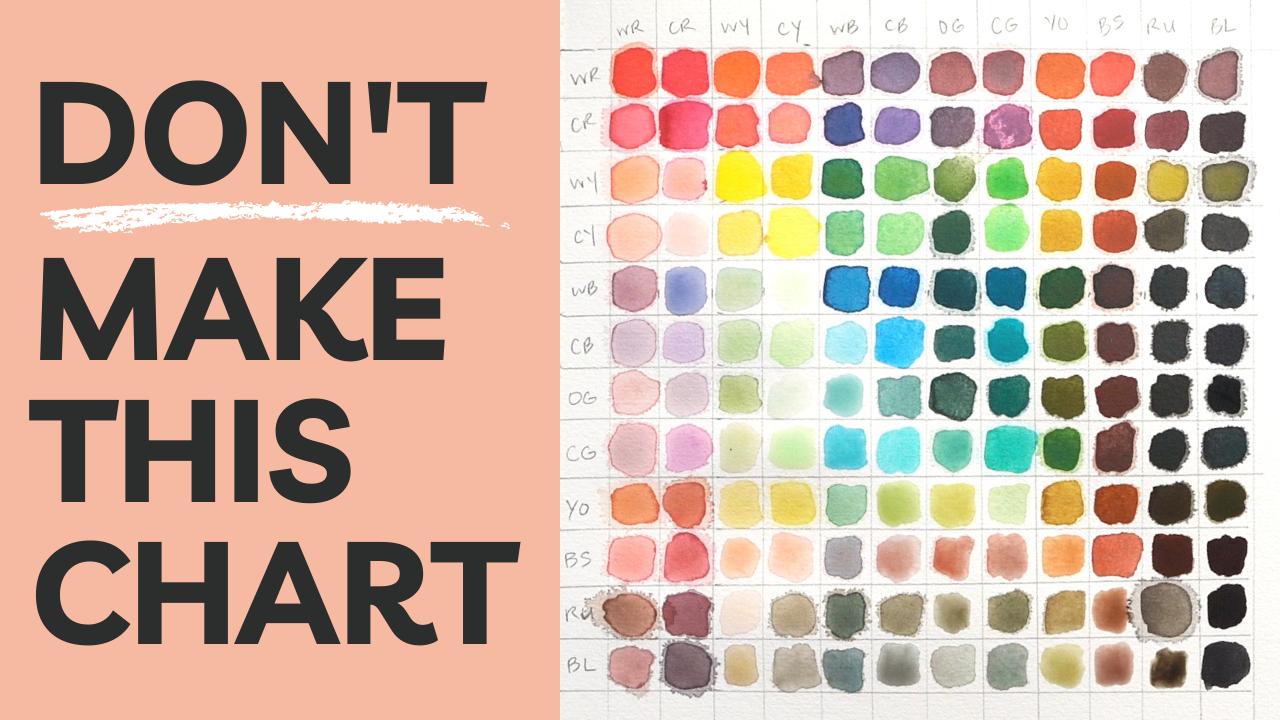 Don't Make This Watercolor Mixing Chart