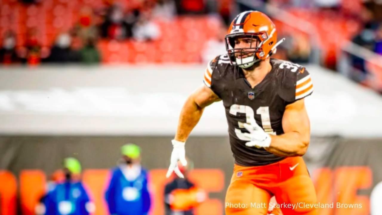Photo of Andy Janovich by Matt Starkey/Cleveland Browns