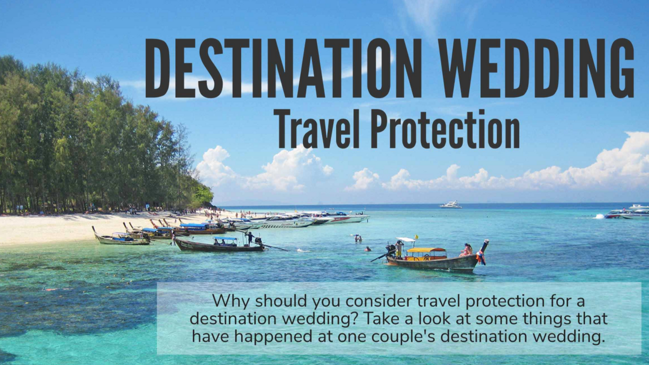 Destination Wedding Travel Protection Banner
