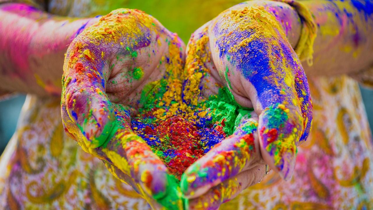 Holi Color Hands